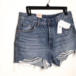 Levi's 501 distressed denim shorts waist 29